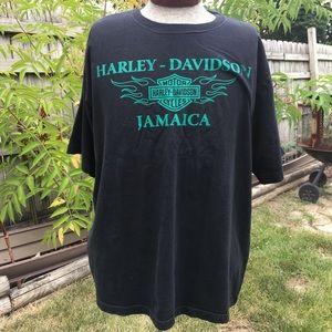 Harley Davidson Men's Jamaica Black T-shirt. 2X